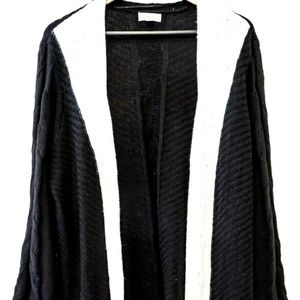 Style & Co Open Front Cardigan Holiday Muse Black